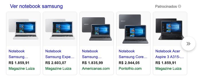 Dicas Google Shopping