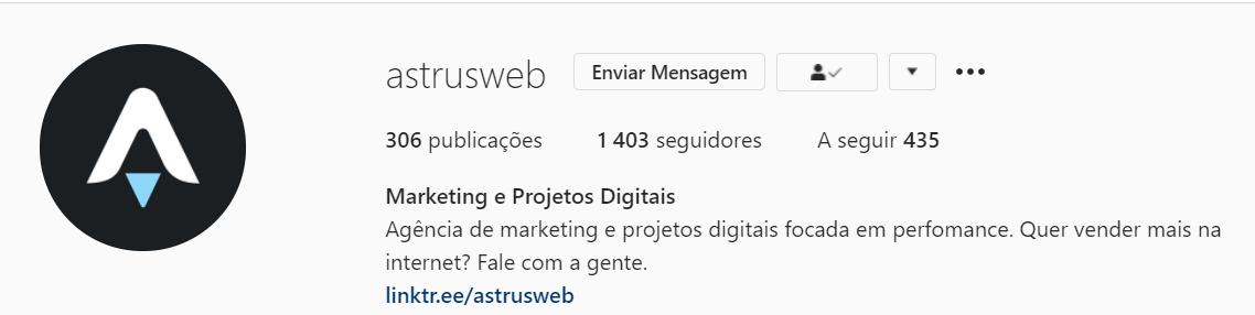 Apresentação Astrus no Instagram