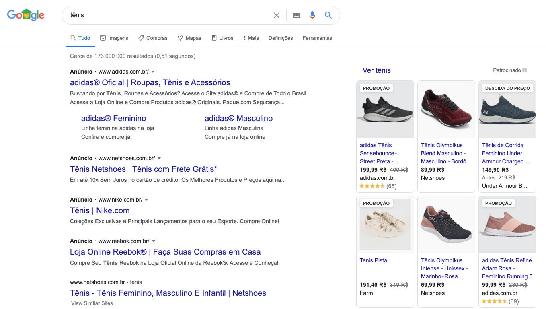 Pesquisa google shopping