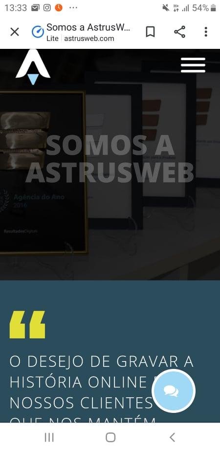 site astrus responsivo
