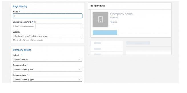 Como criar LinkedIn Page - passo 3