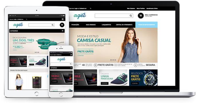 Agec plataforma de e-commerce customizada