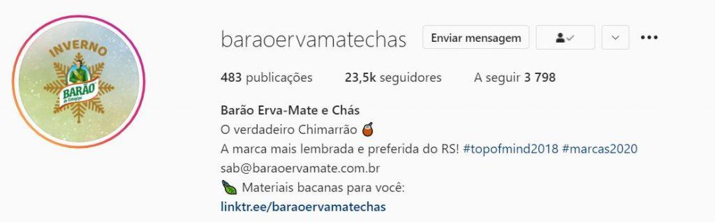 exemplo bio do Instagram